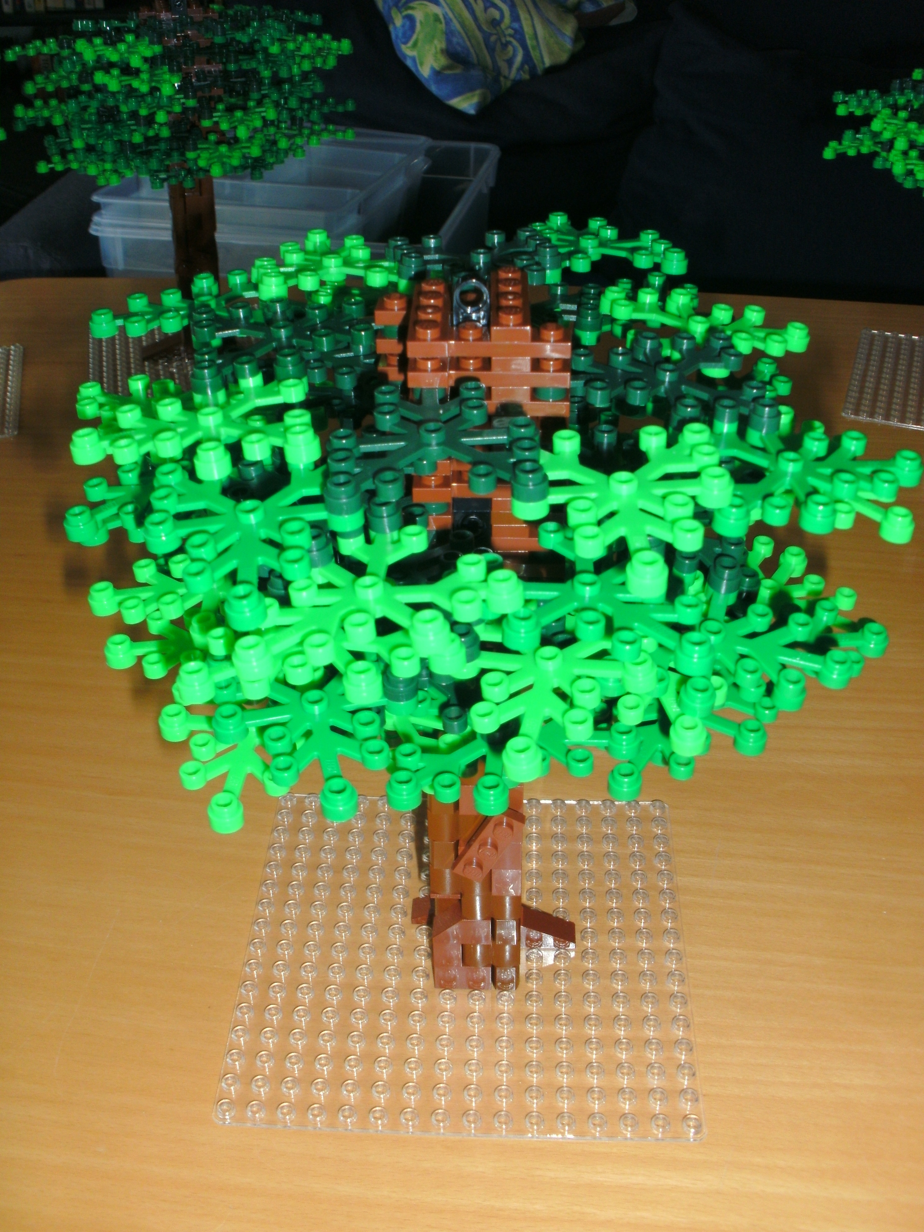 Lego x 10 Bright Green Plant Leaves 6 x 5 Tree Town City Park 2417